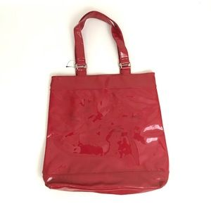 NWOT - Red Patent Leather Tote Bag